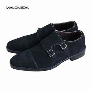 Maloneda Bespoke Black Color Genuine Leather Suede Shoes