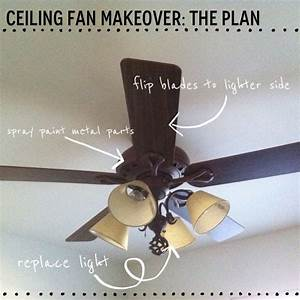 Before and after a ceiling fan makeover