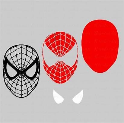 Spiderman Svg Cricut Face Silhouette Cut Cara