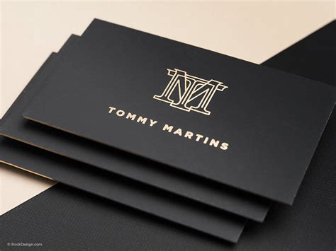logo business card design service rockdesign luxury