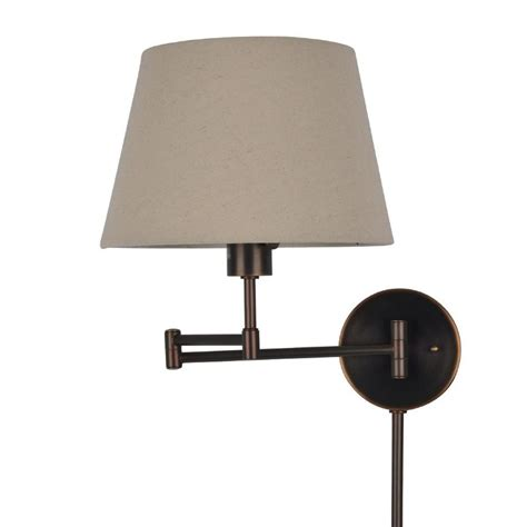 j hunt home 11 in w 1 light bronze transitional plug in standard wall sconce at lowes com