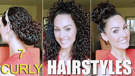 easy naturally curly hairstyles  glam belle youtube