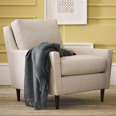 West Elm Everett Chair Leather by Everett Upholstered Chair Modern Armchairs And Accent