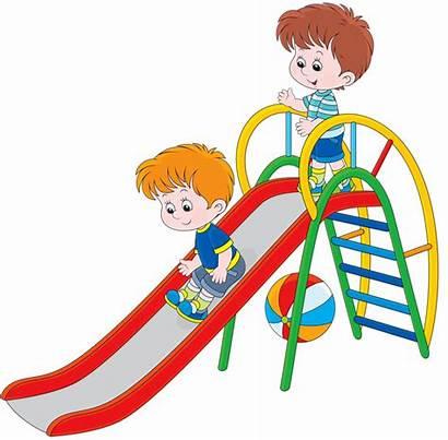 Slide Children Clip Clipart Playground Recreation Play