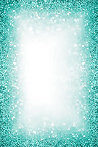 teal turquoise glitter border frame background sparkley
