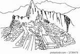 Picchu Machu Illustration sketch template