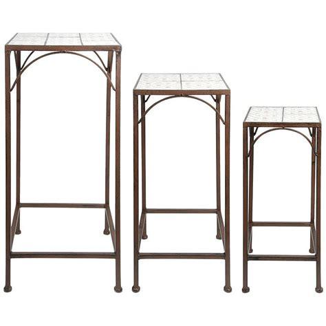 piedistalli per tavoli 3 piedistalli per piante in ghisa e ceramica botanicae