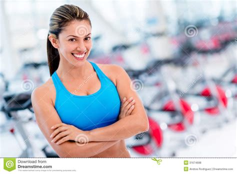 confident woman   gym stock photo image  fitness