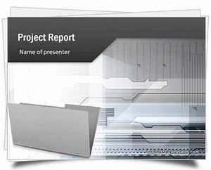 Title Page For Project Report Powerpoint Project Report Template
