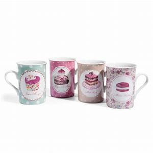 Tasse à Café Maison Du Monde : mug et assiette assorties my girly world ~ Teatrodelosmanantiales.com Idées de Décoration