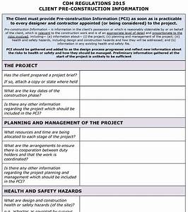 cdm regulations 2015 client pci template pp With cdm construction phase plan template