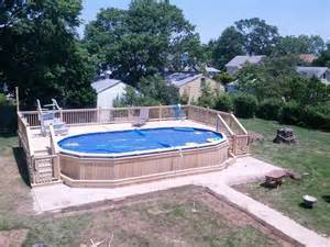 deck for 18x33 oval above ground pool google search