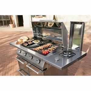 Diffuseur De Chaleur Barbecue Gaz : barbecue gaz steel caddie b9c 4 en inox dcharby ~ Dailycaller-alerts.com Idées de Décoration