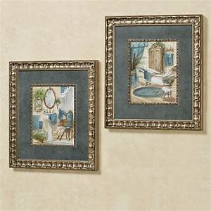 Victorian, Bath, Framed, Wall, Art