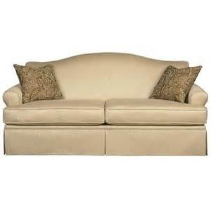 traditional camelback sofa traditional lined skirt couch