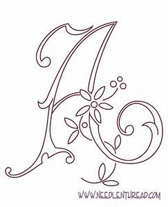embroidery letter patterns embroidery pinterest With embroidery letter patterns