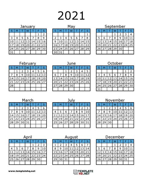 calendar printable template hq