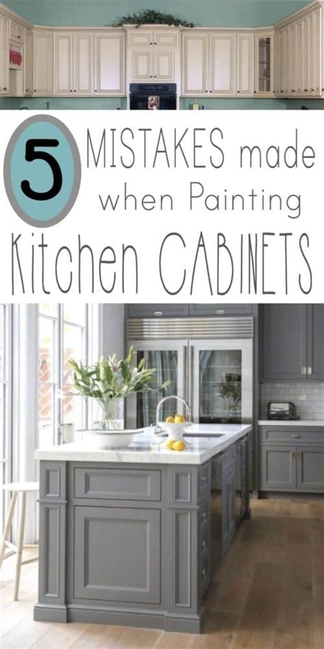 mistakes people   painting kitchen cabinets page