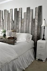 27 incredible diy wooden headboard ideas With idee deco tete de lit