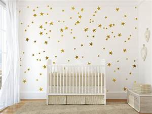 gold vinyl wall decal sticker wall art stars gold star by With star wall decals