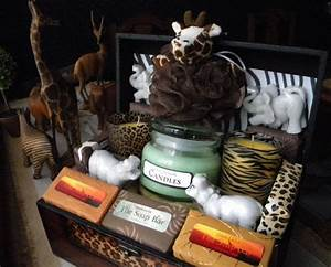 Fundraiser Raffle Tickets Safari Gift Basket Soap And Candles Zoo African Theme