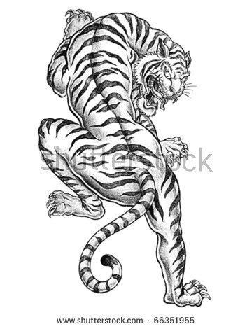 Old school tattoo... Love the Tiger.... | Tattoo | Tattoos, Tiger tattoo, Japanese tiger tattoo