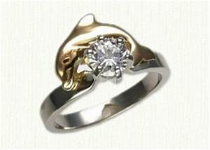 dolphin engagement rings With dolphin wedding ring sets
