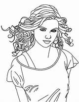 Coloring Singer Country Swift Taylor Pages Female Drawing Print Singers Printable Getdrawings Coloringonly Getcolorings Comments sketch template