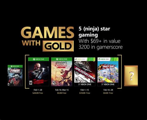 Gamis Gold xbox with gold march 2018 confirmed free