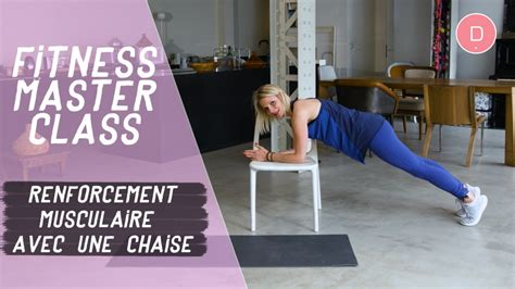 exercices de musculation avec une chaise fitness master class une vid 233 o grossesse doctissimo
