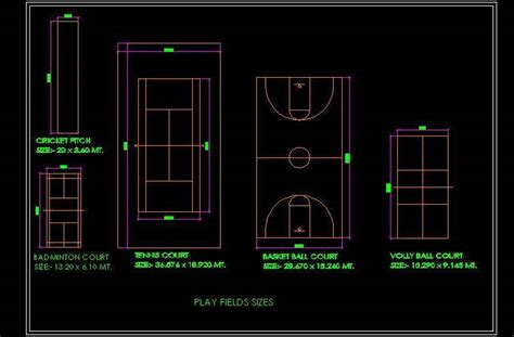 outdoor play games sports field plan n design