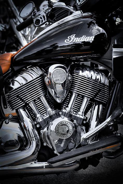 Indian Springfield Image by The Indian Springfield Motorcycle Photograph By David