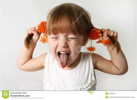 Sticking Out Tongue Stock Photo Image Of Little Adorable
