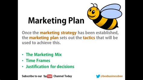 Marketing And Advertising Company by Bee Business Bee Marketing Plans Presentation