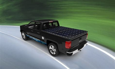 motors unveils solar powered truck autoevolution