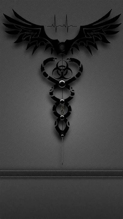 Caduceus Biohazard Zedge Tattoo Gothic Phone Dark
