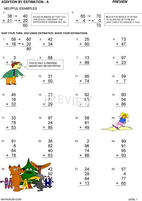 multiplication estimation worksheets gialdini worksheets