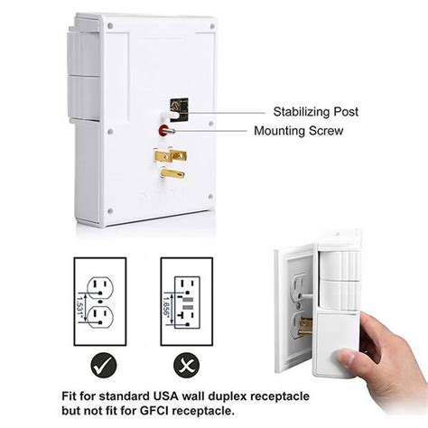 wall surge protector mount usb rotatable outlets ports gadgetsin priced