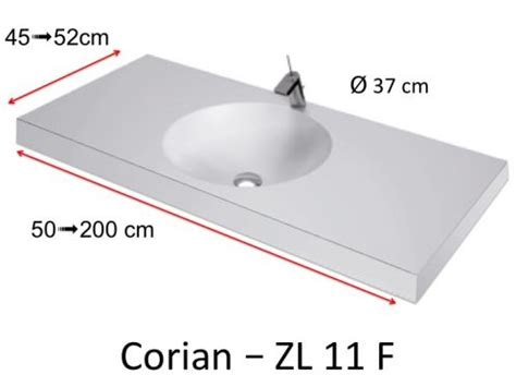 Vanités Définition by Plan Toilette Vasque Ronde Type Corian En R 233 Sine Min 233 Rale