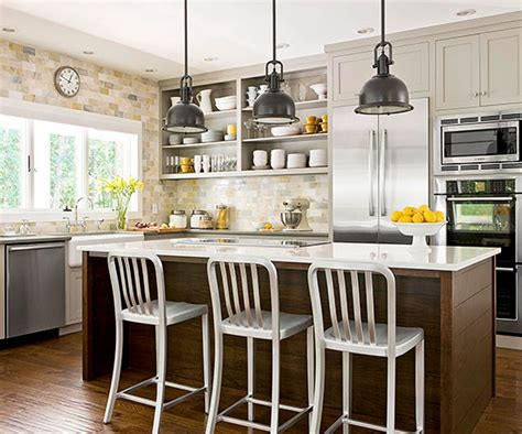 small kitchen design ideas with island a bright approach to kitchen lighting
