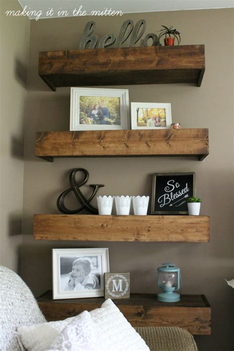 Ideas For Living Room Shelves by It In The Mitten Diy Wood Shelves