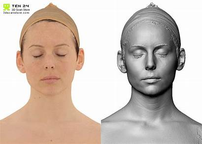 Head Expression Reference Face Human Scan Female