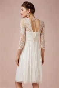 robe de mariã e vintage dentelle robe de mariée courte à manche dentelle bohème mi longue persun fr