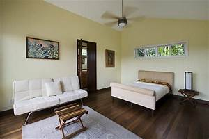 Wood floors with white baseboards bedroom contemporary for Kitchen colors with white cabinets with mirror framed wall art