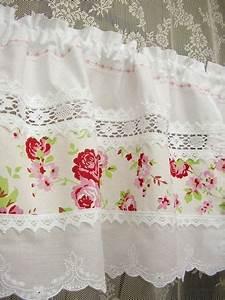 Shabby Chic Gardinen : 2 x rosen bistro gardinen landhausstil shabby chic landhausgardinen exklusiv by bluebasar ~ Eleganceandgraceweddings.com Haus und Dekorationen