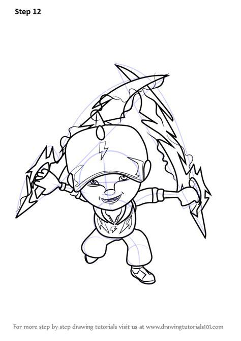 learn   draw boboiboy thunderstorm  boboiboy boboiboy step  step drawing tutorials