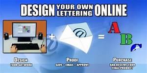 design custom vinyl lettering online With vinyl lettering online