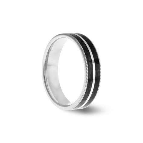 marble black ceramic wedding ring fairfax roberts