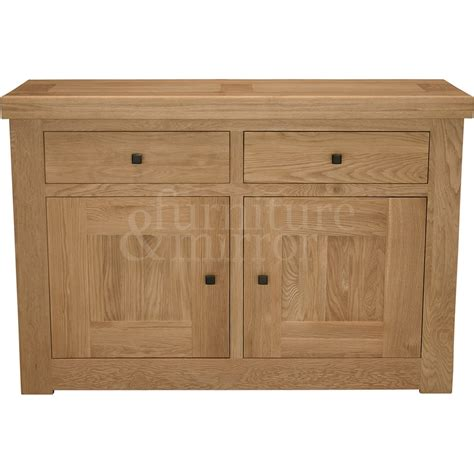 Chunky Oak Sideboard by Chunky Two Door Solid Oak Sideboard Furniture And Mirror