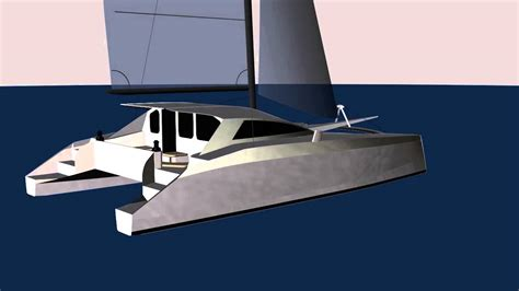 Catamaran Cad Design by G Force 1200 Cad Rendering Schionning Designs Sailing